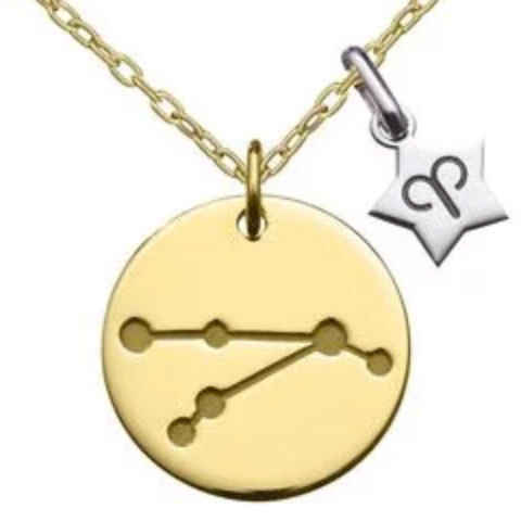 Photo de Collier chaîne & médaille constellation - Or jaune 18ct