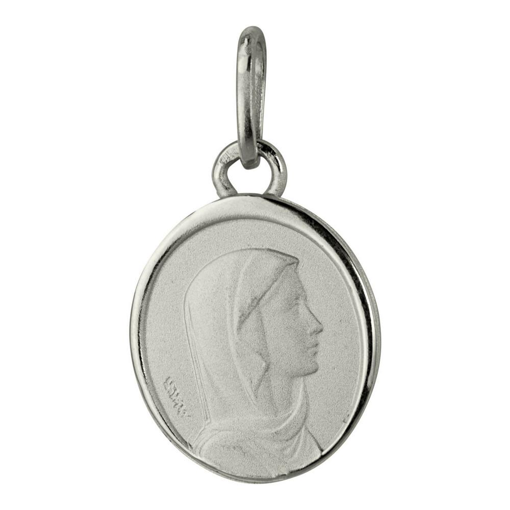 Photo de Médaille Vierge ovale - Argent massif