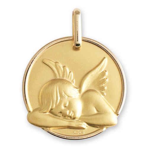 Photo de Médaille Ange dormant - Or jaune 18ct