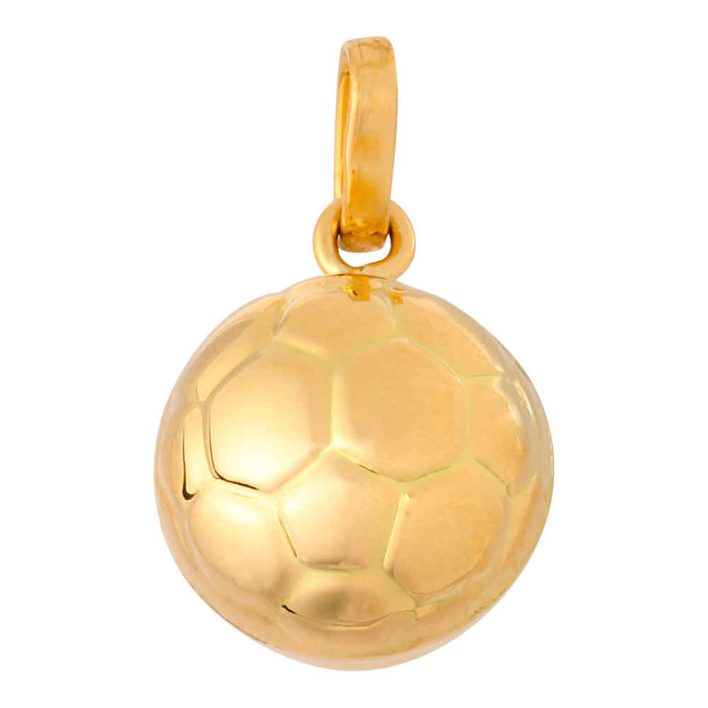 Photo de Pendentif ballon foot - Or jaune 18 ct