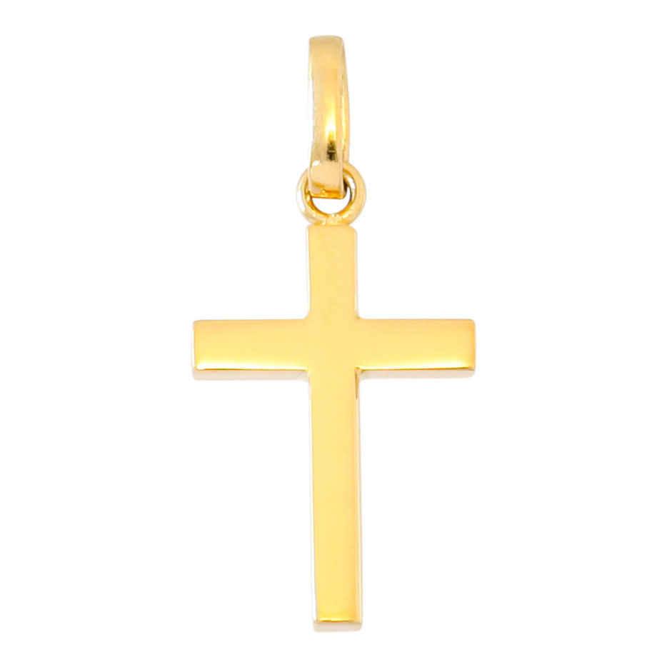 Photo de Croix fil carré - Or jaune 18ct
