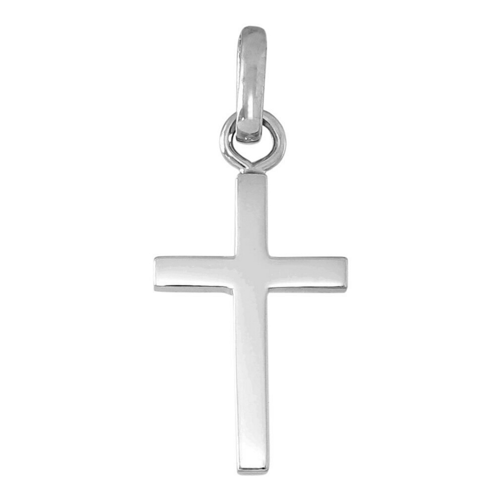 Photo de Croix fil carré - Or blanc 18ct