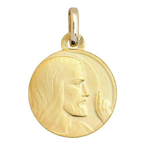 Photo de Médaille Christ la bénédiction - Or jaune 18ct