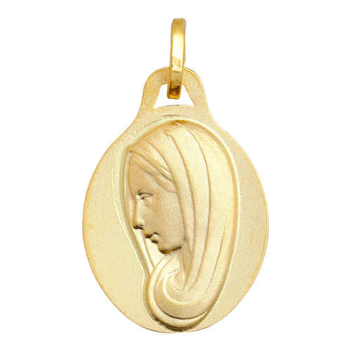 Photo de Médaille Vierge profil - Or jaune 9ct