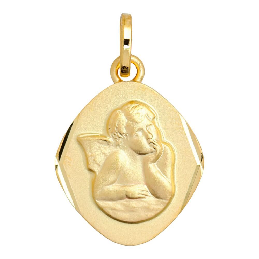 Photo de Médaille Ange losange - Or jaune 9ct