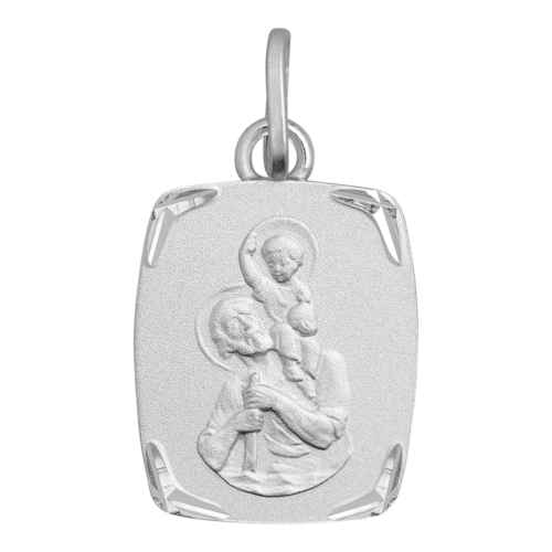 Photo de Médaille Saint Christophe - Or blanc 18ct