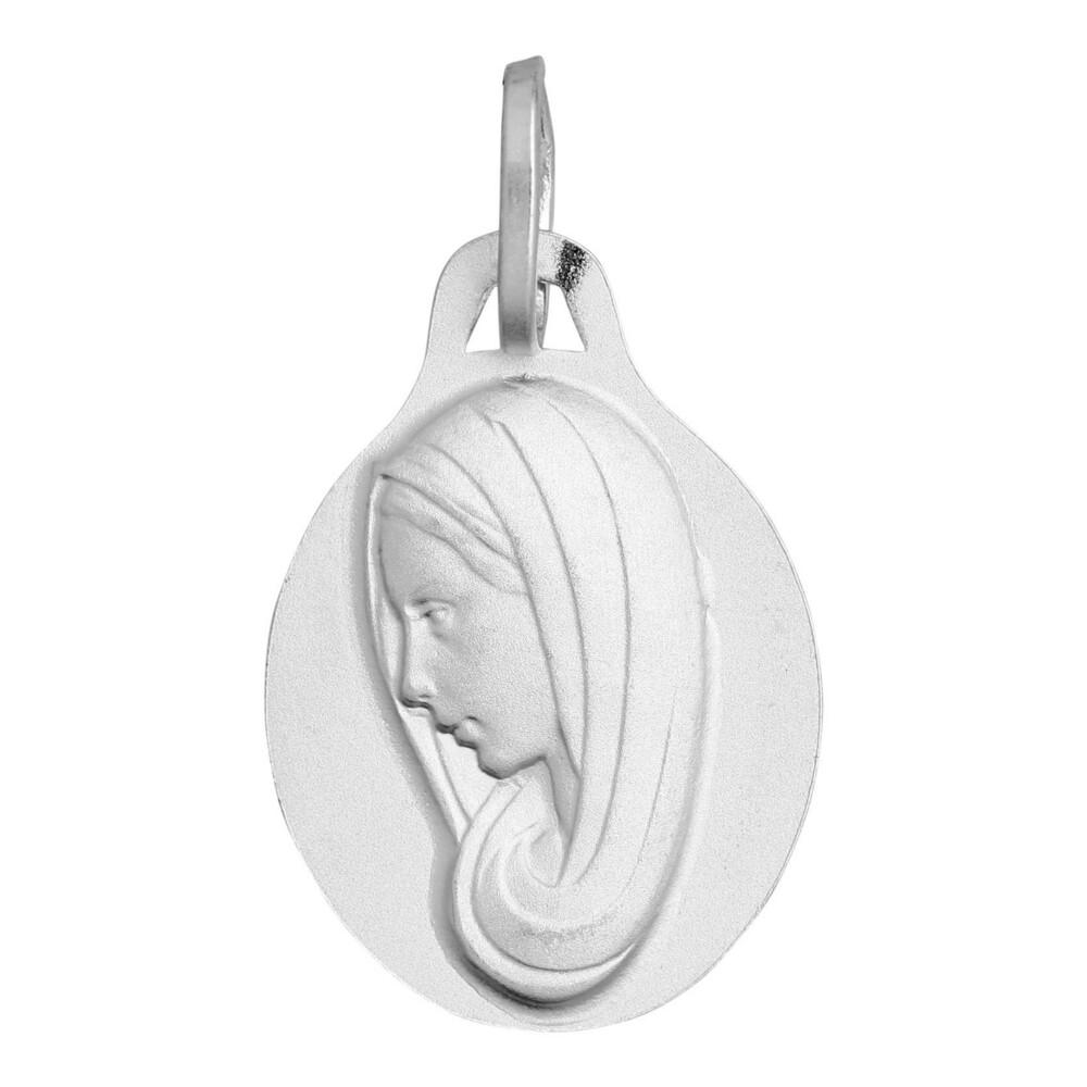 Photo de Médaille Vierge profil - Or blanc 18ct