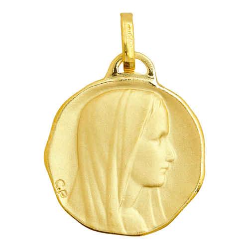 Photo de Médaille Vierge profil droit - Or jaune 18ct