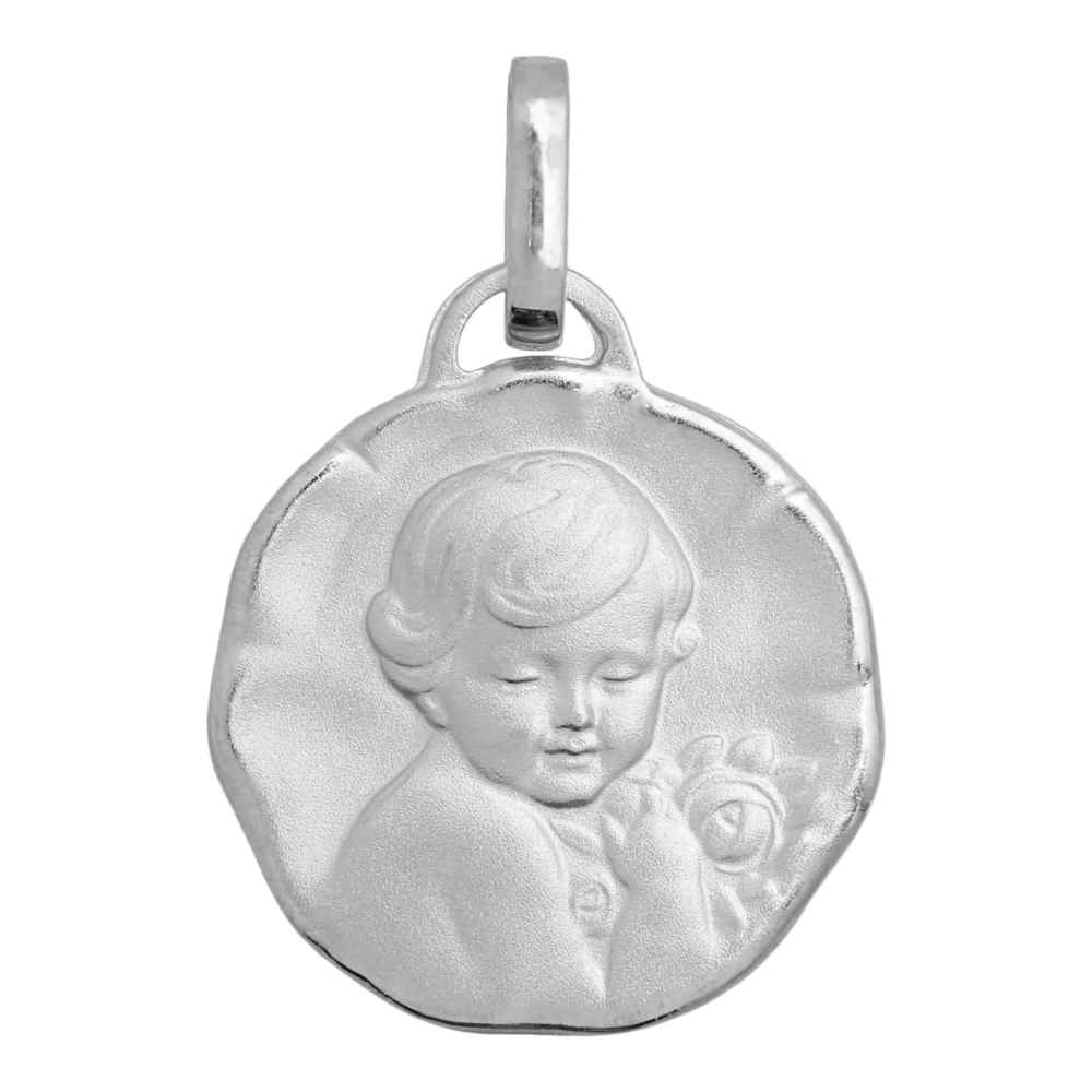 Photo de Médaille Chérubin - Or blanc 18ct