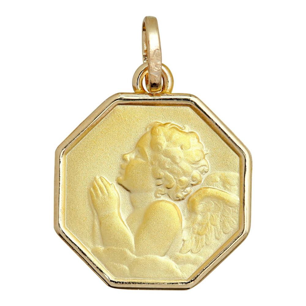 Photo de Médaille Ange octogone - Or jaune 9ct