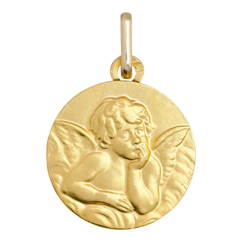 Photo de Médaille Ange Raphaël - Or jaune 9ct