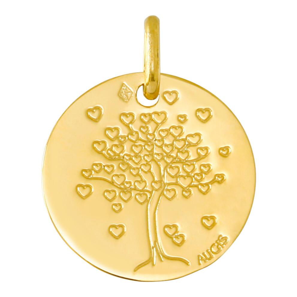 Photo de Médaille Arbre de vie aux coeurs - Or jaune 18ct
