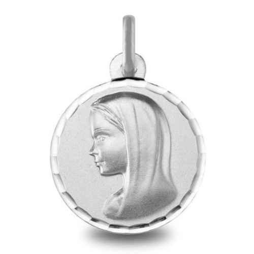 Photo de Médaille Vierge - Or blanc 9ct