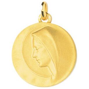 Photo de Médaille Vierge profil - Or jaune 18ct