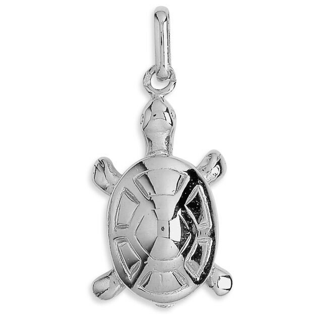 Photo de Pendentif tortue - Or blanc 18ct