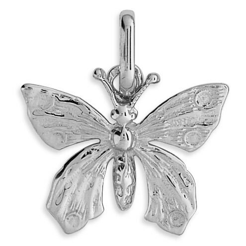 Photo de Pendentif papillons - Or blanc 9ct