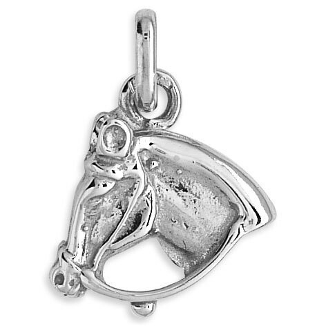 Photo de Pendentif cheval - Or blanc 9ct