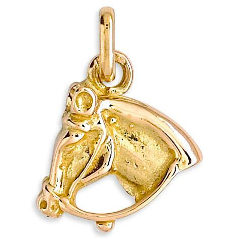 Photo de Pendentif cheval - Or jaune 18ct