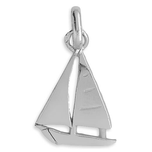 Photo de Pendentif voilier - Or blanc 18ct