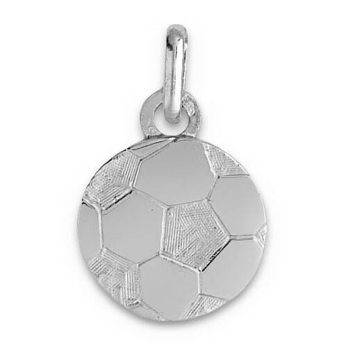 Photo de Pendentif ballon de foot - Or blanc 9ct