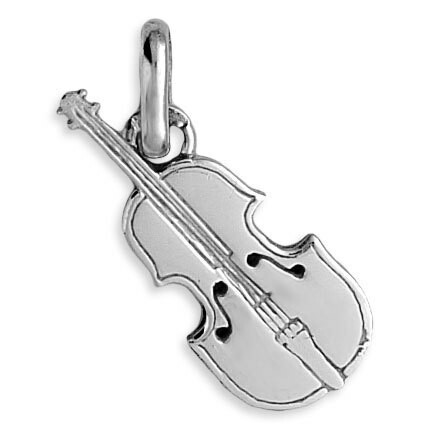 Photo de Pendentif violon - Or blanc 9ct