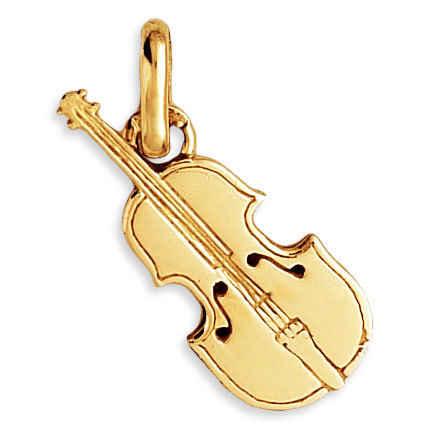 Photo de Pendentif violon - Or jaune 9ct