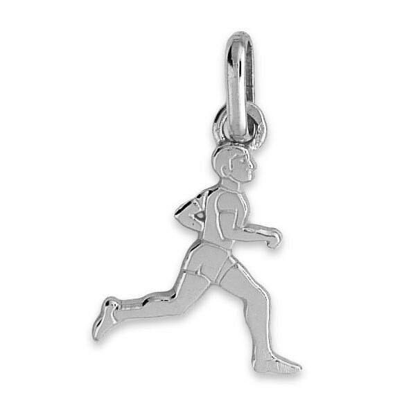 Photo de Pendentif coureur - Or blanc 18ct