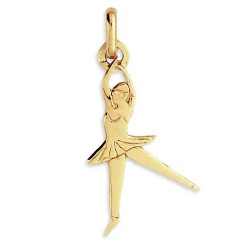 Photo de Pendentif danseuse - Or jaune 18ct