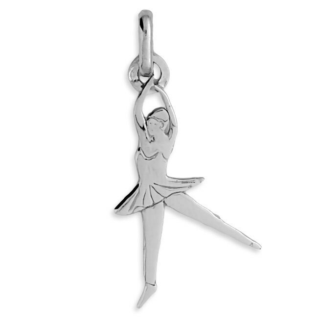 Photo de Pendentif danseuse - Or blanc 9ct