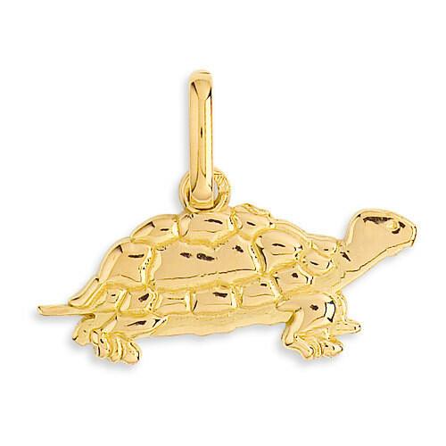 Photo de Pendentif tortue - Or jaune 9ct