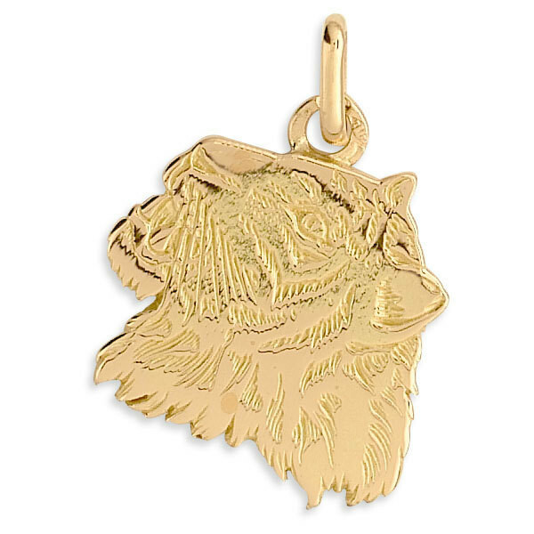 Photo de Pendentif tigre - Or jaune 18ct