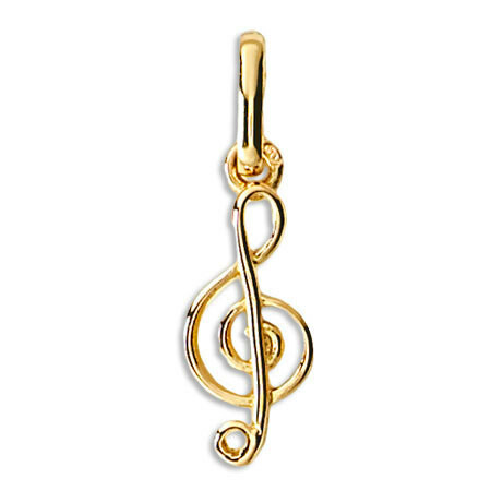 Photo de Pendentif clef de sol - Or jaune 18ct
