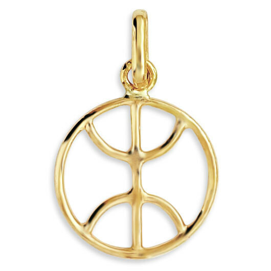 Photo de Pendentif signe berber - Or jaune 9ct