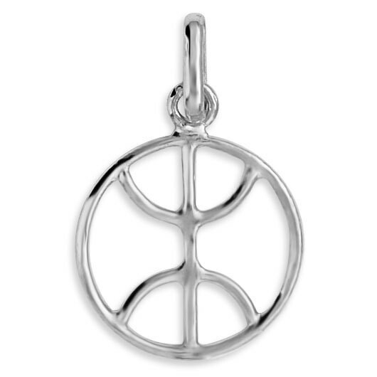 Photo de Pendentif signe berber - Or blanc 9ct