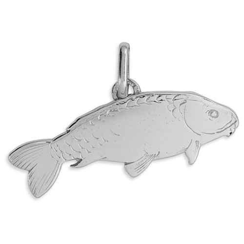 Photo de Pendentif poisson - Or blanc 9ct
