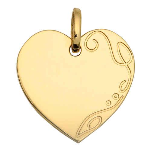 Photo de Médaille coeur - Or jaune 18ct