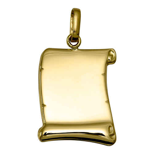 Photo de Pendentif parchemin - Or jaune 18ct