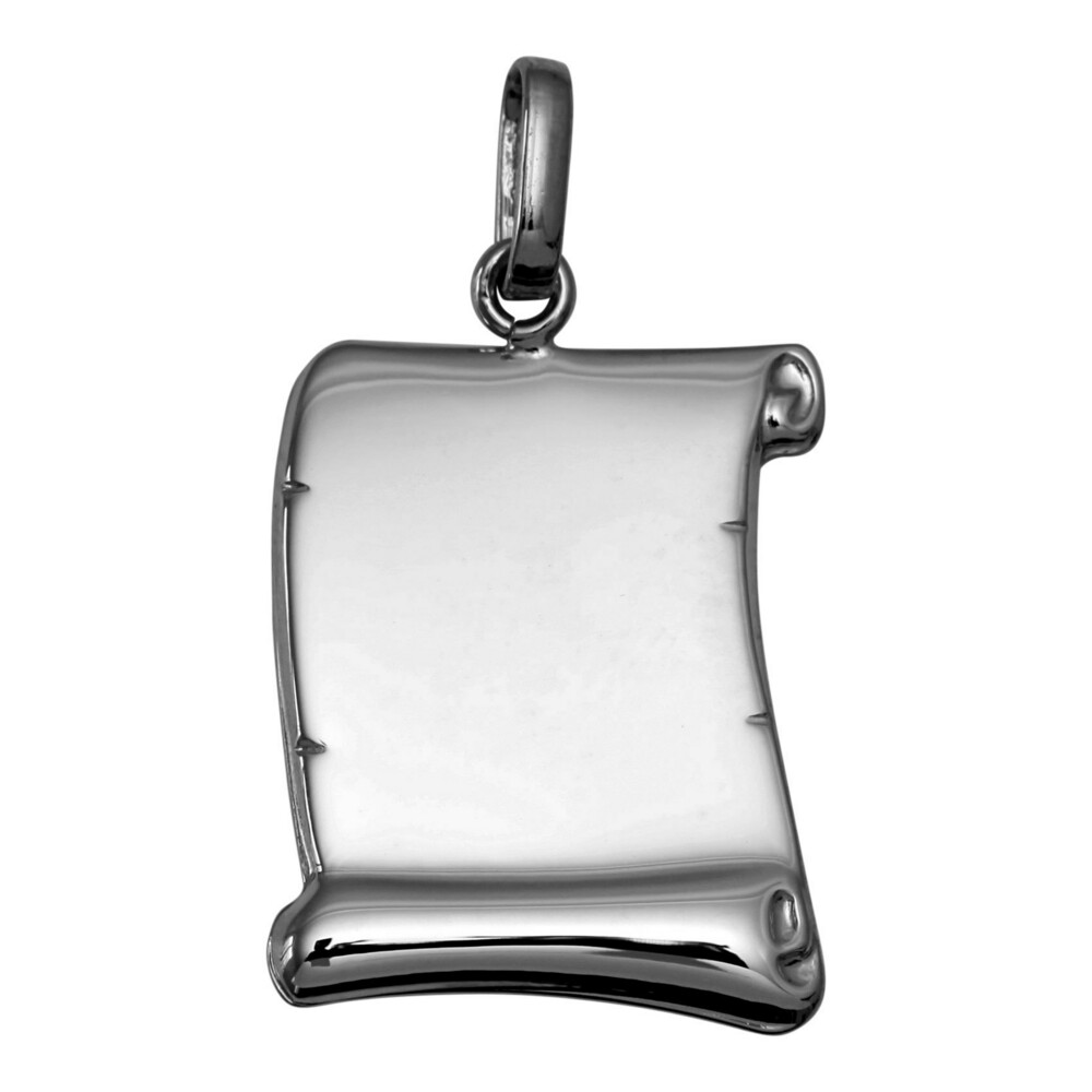 Photo de Pendentif parchemin - Or blanc 18ct