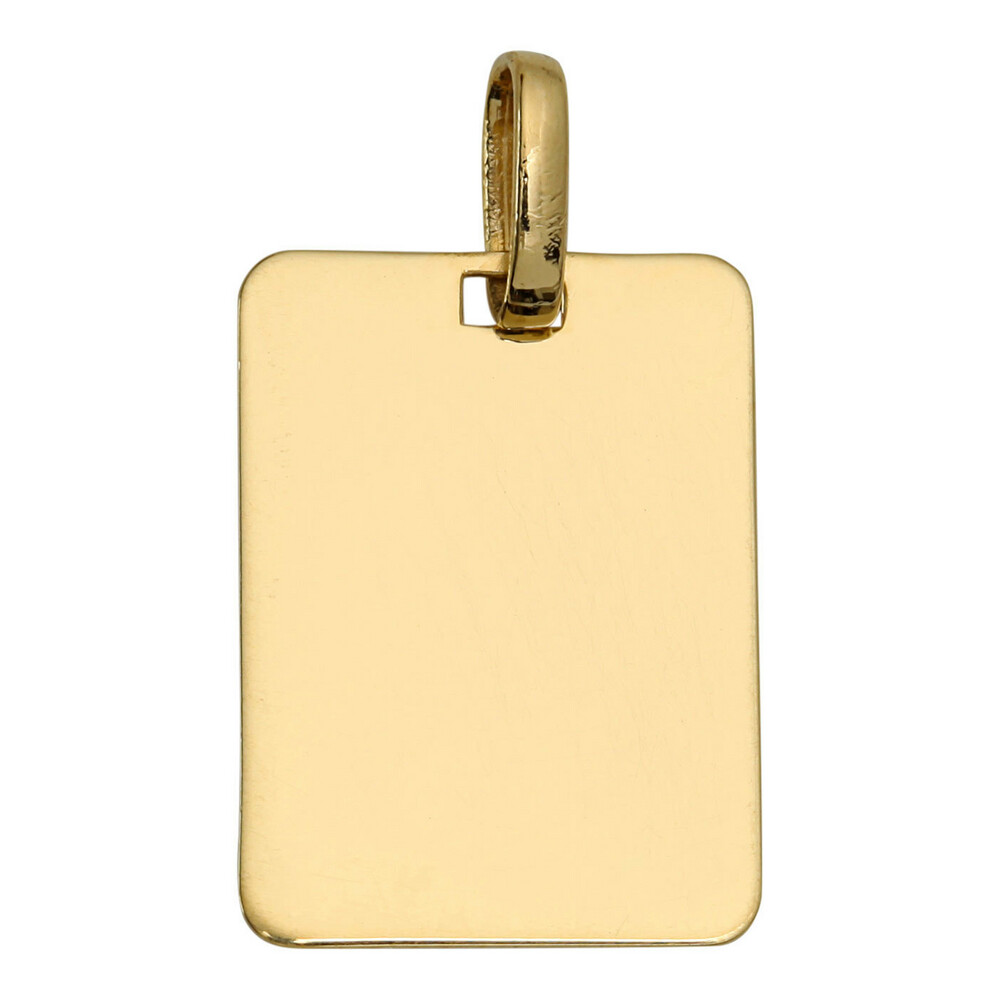 Photo de Pendentif plaque rectangle - Or jaune 18ct