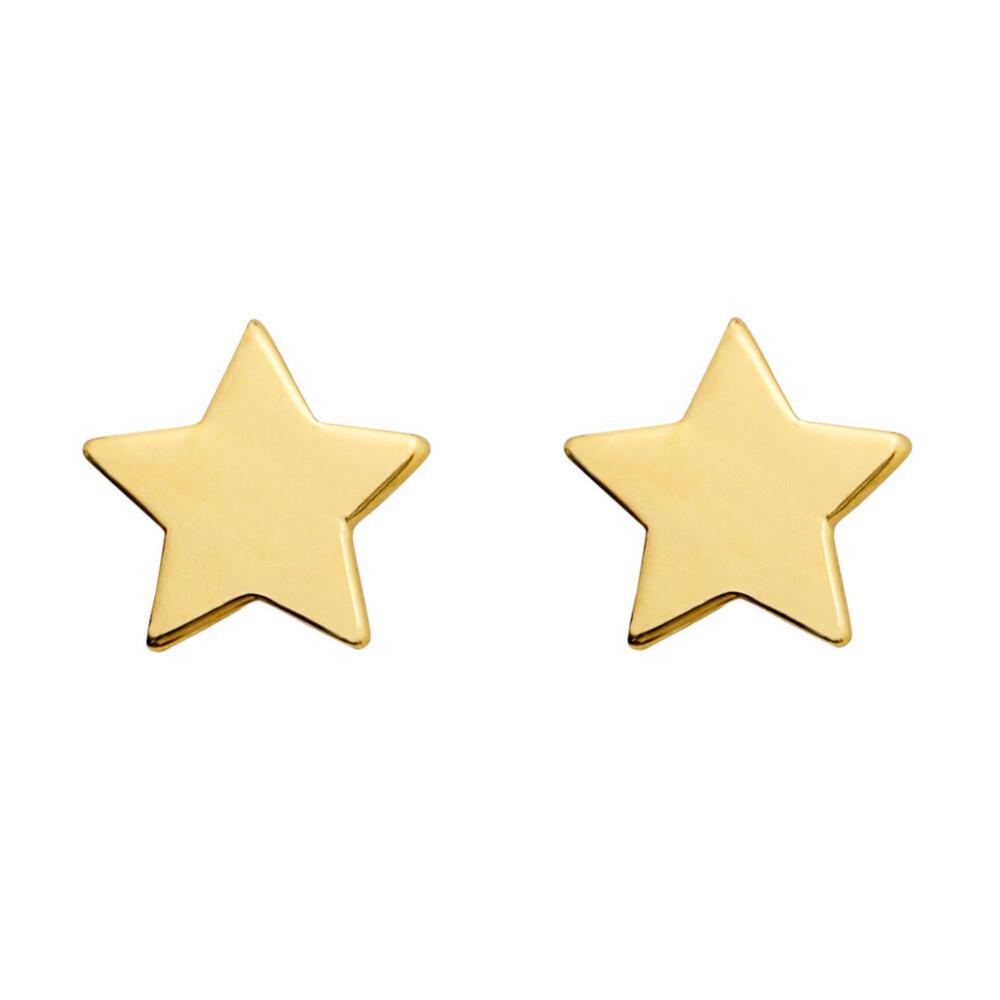 Photo de Boucles d'oreilles étoiles - Vis - Or jaune 18ct
