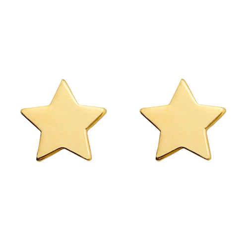 Photo de Boucles d'oreilles étoiles - Vis - Or jaune 9ct
