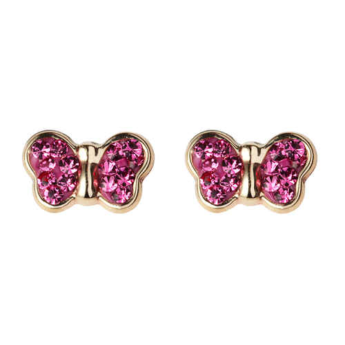 Photo de Boucles d'oreilles papillons - Vis - Or jaune 9ct