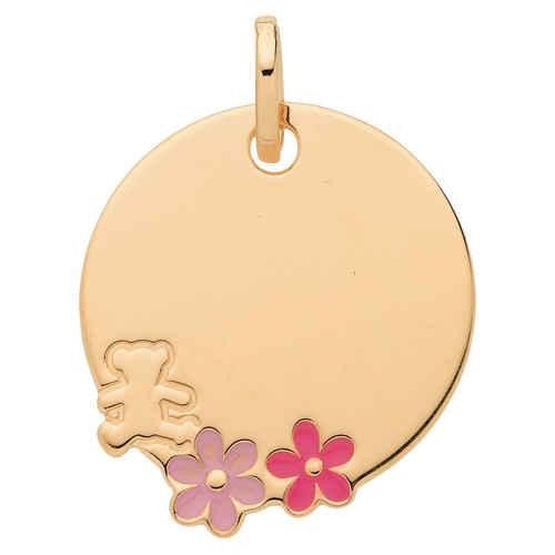 Photo de Médaille aux fleurs LuluCastagnette - Or jaune 9ct