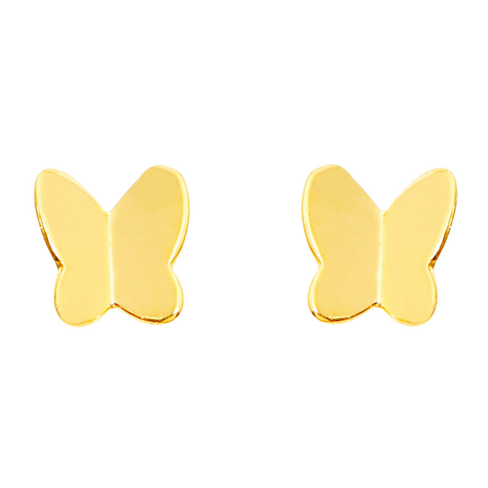 Photo de Boucles d'oreilles papillons - Vis - Or jaune 18ct