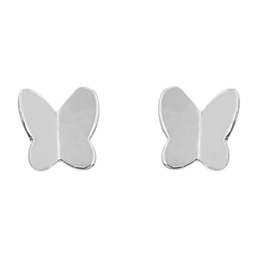 Photo de Boucles d'oreilles papillons - Vis - Or blanc 18ct