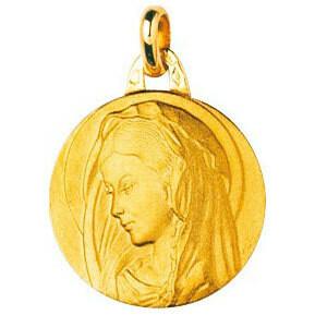 Photo de Médaille Vierge - Or jaune 18ct