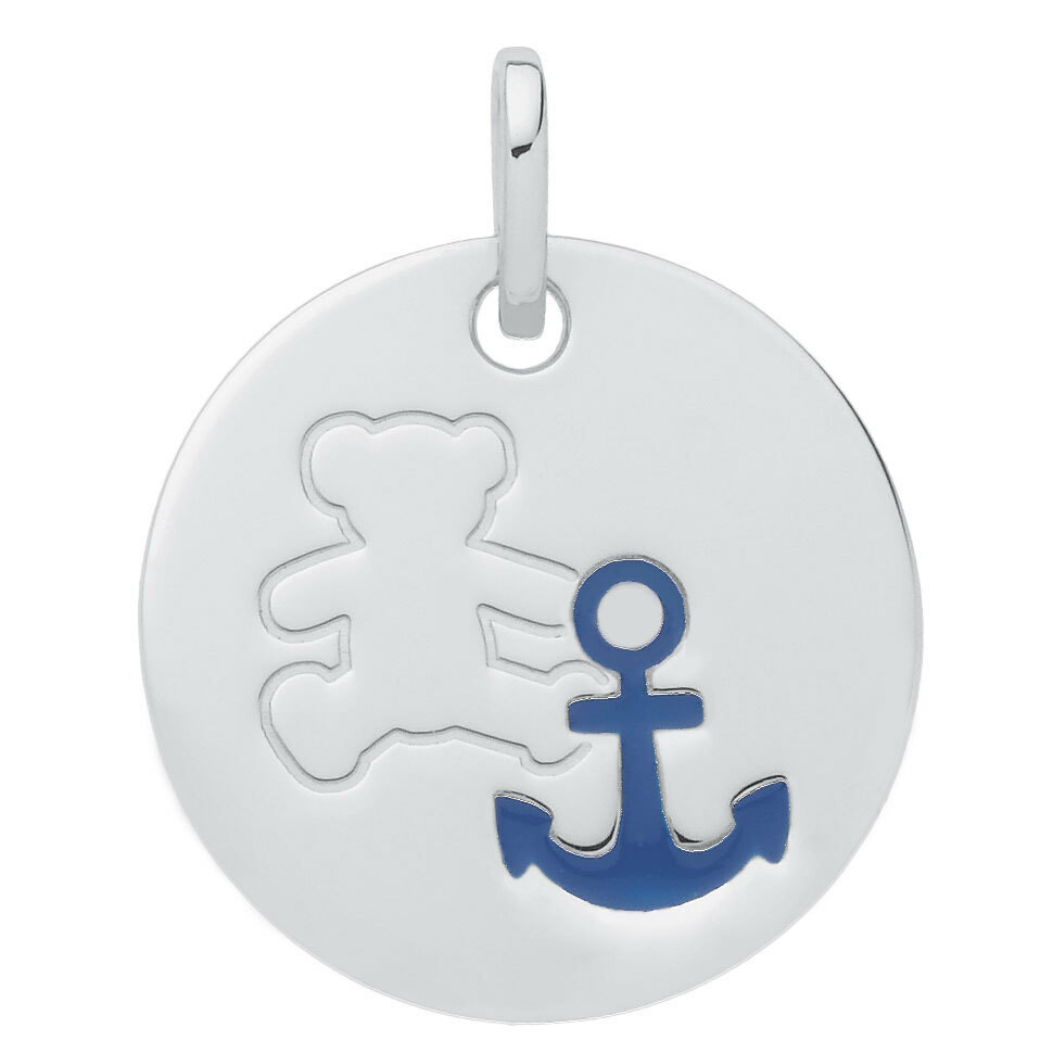 Photo de Médaille marin LuluCastagnette - Or blanc 9ct