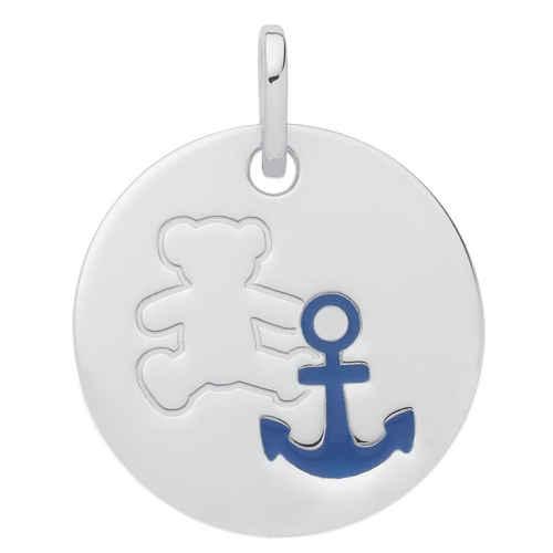 Photo de Médaille marin LuluCastagnette - Or blanc 9ct