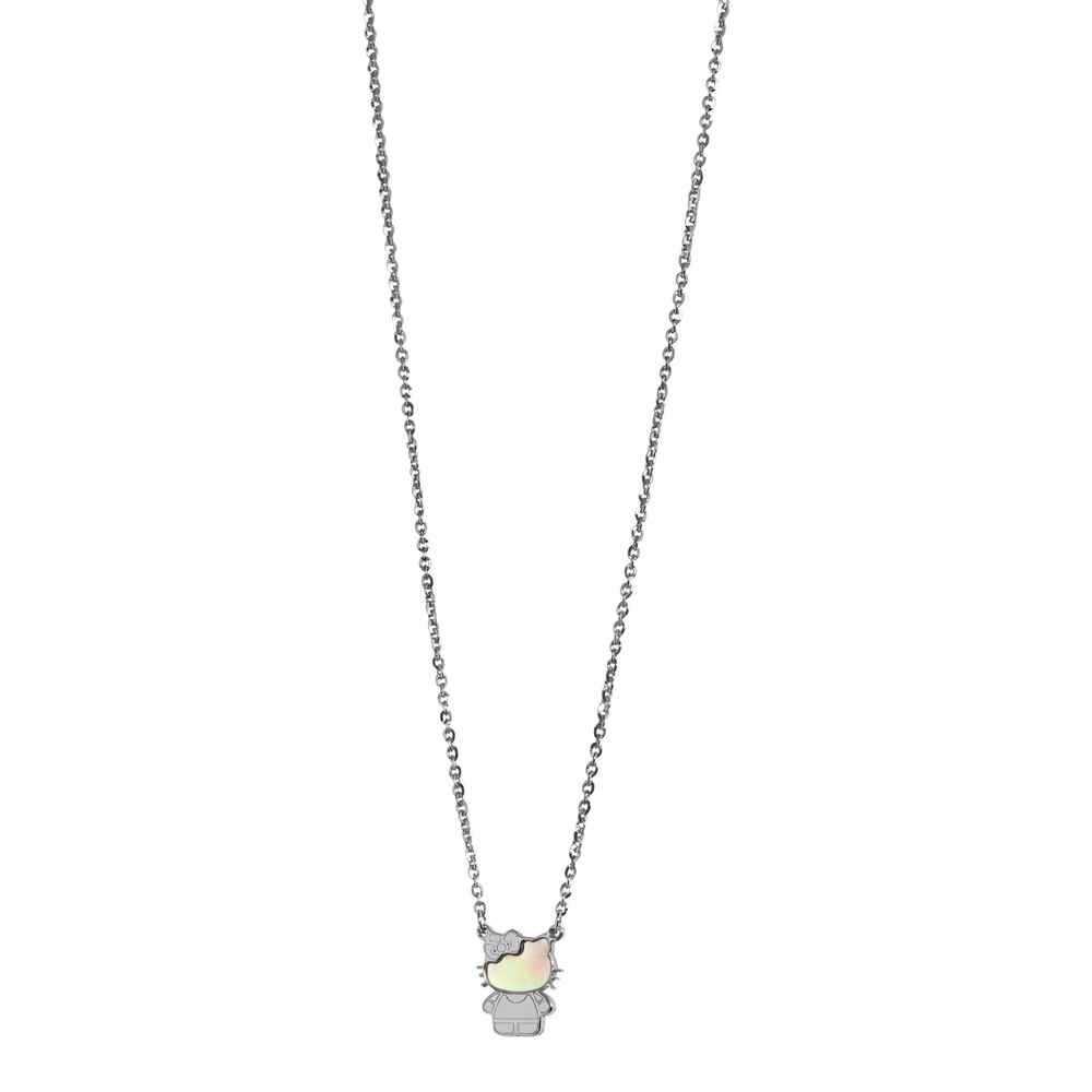 Photo de Collier Kitty - Or blanc 9ct & nacre