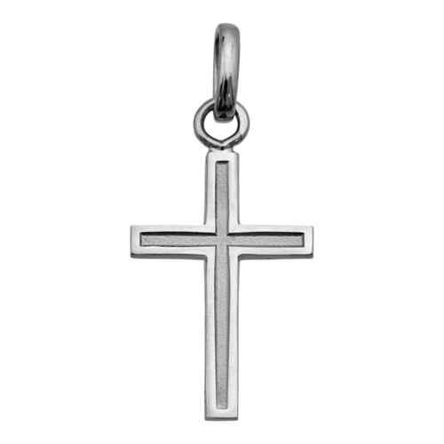 Photo de Croix personnalisée - Or blanc 18ct